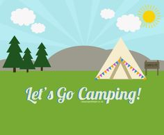 """""""Let's go camping!"""" Free illustration desktop wallpaper or cover photo from Avery Windeshausen With Style Tent Camping, Camping Hacks, Bell Tent, Festival Camping, H Style, Free Illustrations, Cover Photos, The Great Outdoors, Letting Go"""