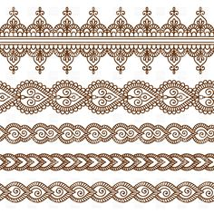Vector set with abstract floral elements in indian style Stock Images in HD and millions of other royalty-free stock photos, illustrations, and vectors in the Shutterstock collection. Mehndi Patterns, Indian Patterns, Mehndi Designs, Embroidery Patterns, Mandala Drawing, Mandala Art, Border Pattern, Pattern Design, Inspiration Wand