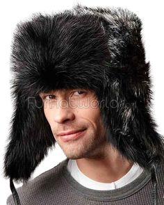 f2bc2ef4efa1b Black Beaver Full Fur Russian Hat for Men