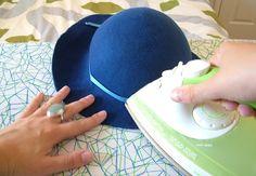 Hat For Short Hair Women - Cowgirl Hat Illustration - Felt Hat Template - Animal Paper Hat Sombreros Cloche, Hat Blocks, Fascinator Hats, Fascinators, Headpieces, Hat Tutorial, Diy Hat, Felting Tutorials, Cloche Hat