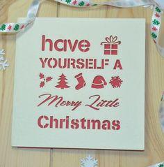 'merry little christmas' christmas card by sweet pea design   notonthehighstreet.com