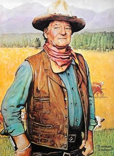 John Wayne - Norman Rockwell