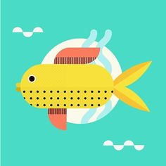 A quick one today - little geometric fishy # # #drawing #design #illustration