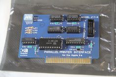 Computer Accessories Parallel Printer Interface Card Model J-11A Apple IIe AS-IS