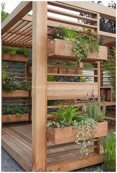 Kamil talked about creating a pergola over the back deck...this one is awesome! Nine Red: 9 Space Saving Herb Gardens