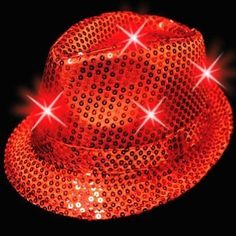 Red Flashy LED Sequin Fedora Snazzy Hat Lights Up! Red Hat Society by Glitz, Glitter and Bling!, http://www.amazon.com/dp/B005725L5A/ref=cm_sw_r_pi_dp_tNHsrb11FK8N7