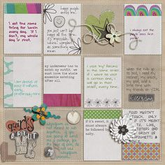 journal card layout
