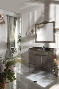 Topex Armadi Art Nuovo Gray Bathroom Vanity With Granite Surface From Our Classic Collection!