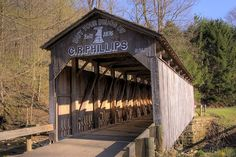 Teegarden Covered Bridge in Ohio.