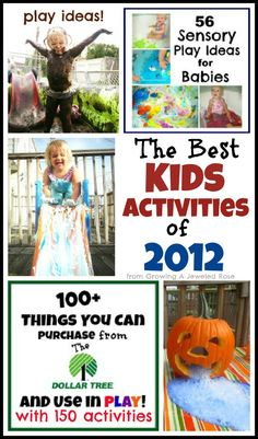The BEST Kids Activities of 2012 from Growing A Jeweled Rose