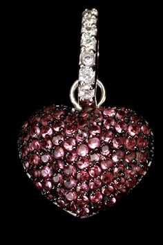 Sephora Jewelers  Sterling Silver & Purple Zirconia Heart Pendant  $60.00