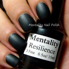 Mentality Nail Polish - Resilience, a teal-black from the Dark Mattes collection.