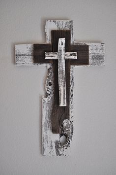 Rustic Unique Turquoise Cross One of a kind by heartifactsgallery