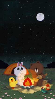 Check out this awesome collection of Line Friends wallpapers, with 42 Line Friends wallpaper pictures for your desktop, phone or tablet. Lines Wallpaper, Brown Wallpaper, Bear Wallpaper, Line Cony, Cony Brown, Brown Bear, Bunny And Bear, Cute Love Cartoons, Whatsapp Wallpaper