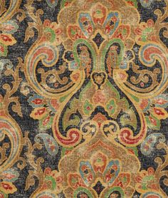 Ralph Lauren Dovima Paisly Onyx Fabric from the La Boheme collection buy at onlinefabricstore.net