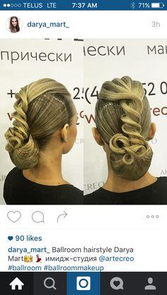 Gorgeous Ballroom Hair By Darya_mart_ http://www.dancingfeeling.com/