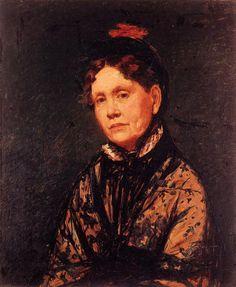 FCBTC / Mrs. Robert Simpson Cassatt by Mary Cassatt. 1873. Oil on canvas.