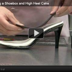 Fancy Shoe & Shoebox Cake Video Tutorial » Pink Cake Box