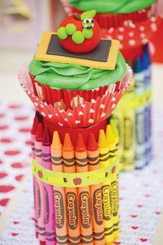Crayon Cupcake Stand