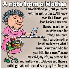 A Note From A Mother funny quotes quote kids mom mother family quote family quotes funny quotes children mother quotes quotes for moms quotes about children My Children Quotes, Quotes For Kids, Great Quotes, Child Quotes, Super Quotes, Inspirational Quotes For Son, Mother Daughter Quotes, Mother Quotes, Mother Family