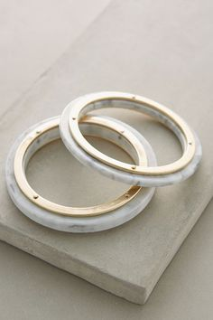 Lucite Bangles - anthropologie.com #anthrofave