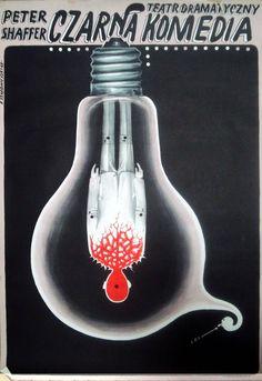 czarna komedia, film poster - franciszek starowieyski 1969