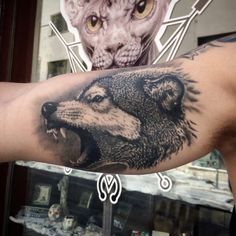 healed #tattoo #wolftattoo