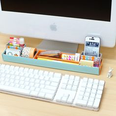 The Desk Organizer Tray allows you to organize all your items on your desk in a single location.