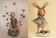 Anna Zueva art dolls, Maroussia and sunset (left)