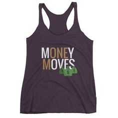 Money Moves w/ Money Bags Women's Racerback Tanks