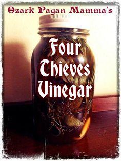 Ozark Pagan Mamma's Four Thieves Vinegarhttp://tressabelle.wordpress.com/2014/03/02/four-thieves-vinegar/