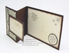 Stampin Up double fold easy Christmas card