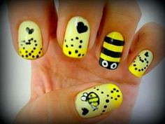 bee nail art....so cute!