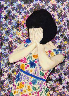 artisticmoods: Io non credo di aver mai visto nessuno usare tutti i colori nei dipinti come fa Naomi Okubo.  E io amo it.Many altre opere di Naomi pubblicato oggi il blog http:! //www.artisticmoods.com/naomi-okubo-2/