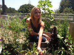 Emily VanCamp Visits University High School Garden