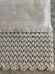 WORKSHOP OF BARRED: Croche - Instructions Barred White Majestic ...,LINDO ESTA RENDA DE CROCHE PRA SUA TOALHA