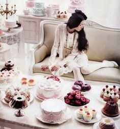 Love the display of cakes and treats