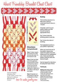 Heart Friendship Bracelet Chart