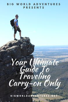 Come learn how to save money and pack light with The Over Packers Guide To Traveling Carry-On Only! We have all the tips you need at bigworldadventures.net.  Save money, Travel, Vacation, Budget, Carry-on only, No checked bags, Airlines, Planes, Holiday Travel Guides, Travel Tips, Packing Light, Travel Around The World, Carry On, Saving Money, Budgeting, Vacation, Adventure