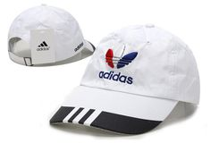 Mens   Womens Adidas Original Logo Running ClimaCool Cotton Golf Adjustable  Velcro Strap Back Cap - White   Black 663cc648598a