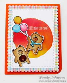 Bears Birthday Card using WPlus9 Friends For All Seasons