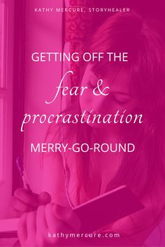 Procrastination is not something to beat yourself up about. It's only Fear's way of protecting you. Gently but firmly, tell Fear why you have to do what your heart tells you to do... Click thru to read the whole blog or save for later.