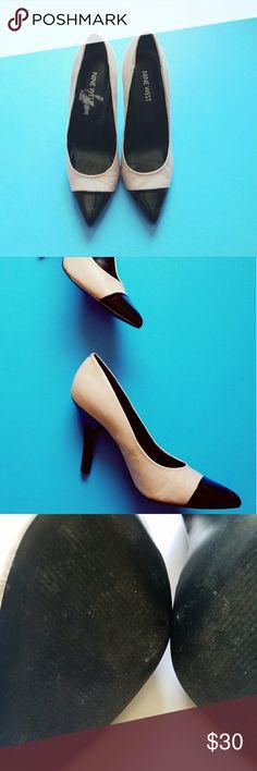 "Nine west two toned pump Cute 4"" pumps. Dress them up or down! Nine West Shoes Heels"