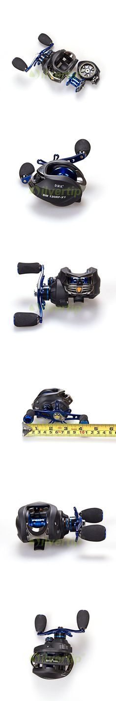 Free Shipping DMK 13+1 BB 6.3:1 Baitcasting Fishing Reel Bait Casting Baitcast Right Left Hand Centrifugal Brake Blue Handle