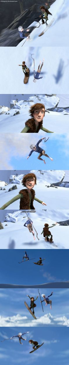 Jack Frost and Hiccup Snow race by Milady666.deviantart.com on @deviantART