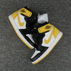 83799b02bad 2018 Nike Air Jordan 1 Six Rings Yellow Black White Cheap Sale