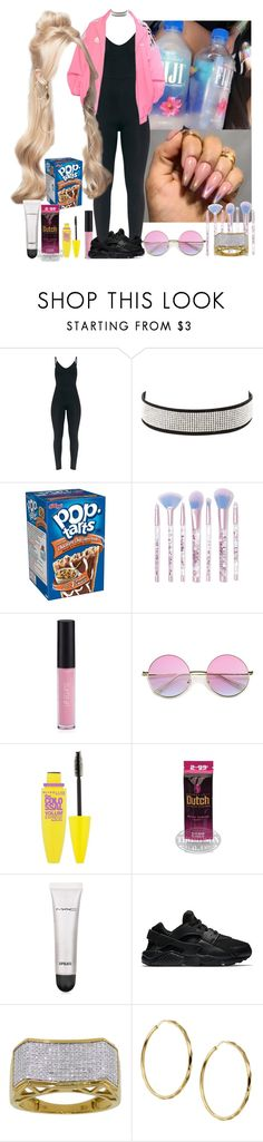 """"""","""" by princesscece ❤ liked on Polyvore featuring Gosha Rubchinskiy, Charlotte Russe, Lime Crime, Sigma, Maybelline, MAC Cosmetics, NIKE and Sterling Essentials"""