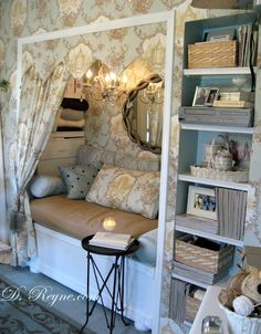 I adore old fashioned pastel especially a nook bed