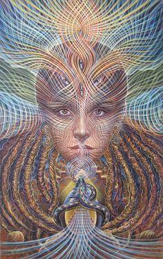 Artist: Amanda Sage.   'Orphic Awakening'   oil, egg tempera & casein on wood – 11.5 x 18.3″ – 2011-12