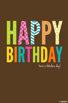 Feliz cumpleaños!!!!